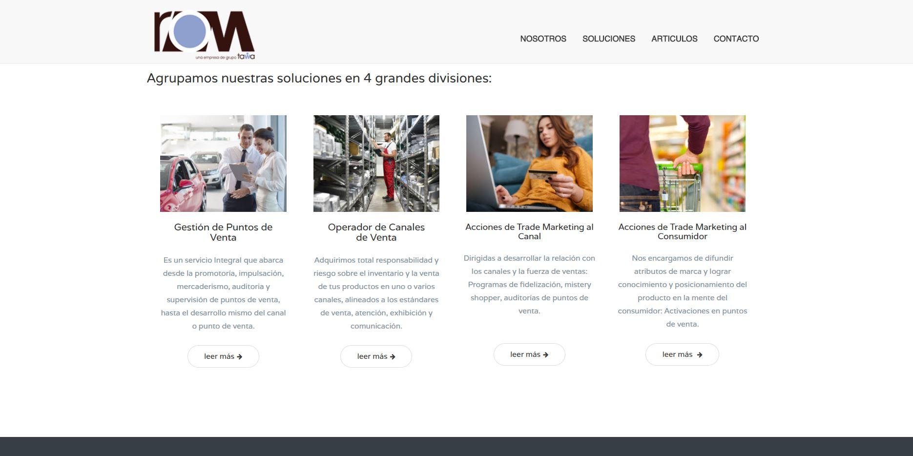 Servicios ROM en website