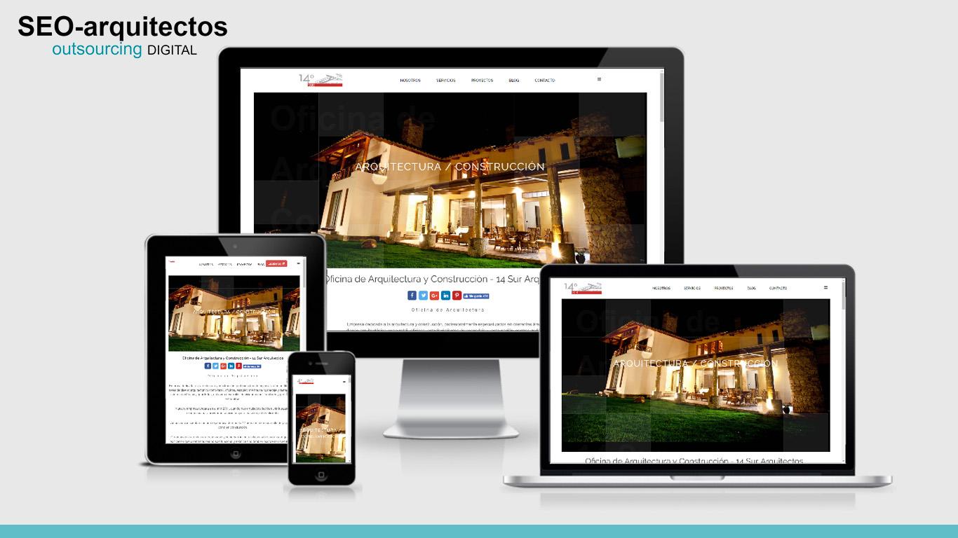 Página Web 14° Sur Arquitectos